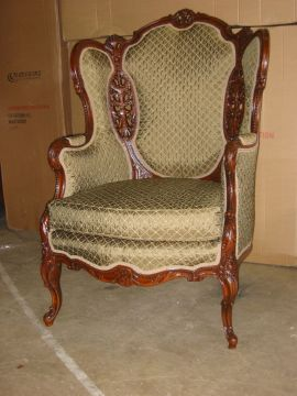 Restored upholstered chair
