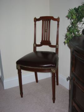 Restored mahogany side chair